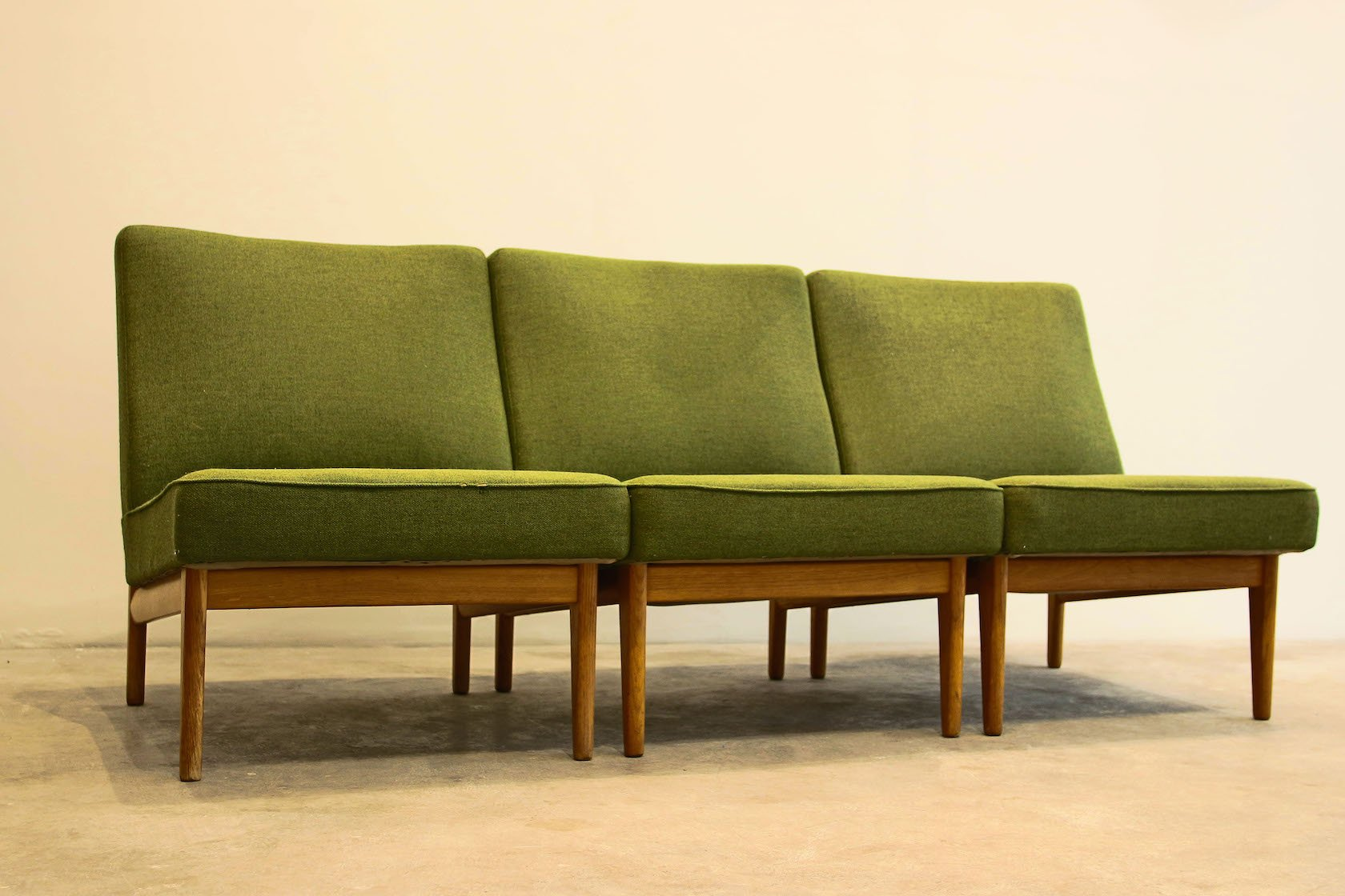Vintage Scandinavian Sofa In Green For Sale At Pamono
