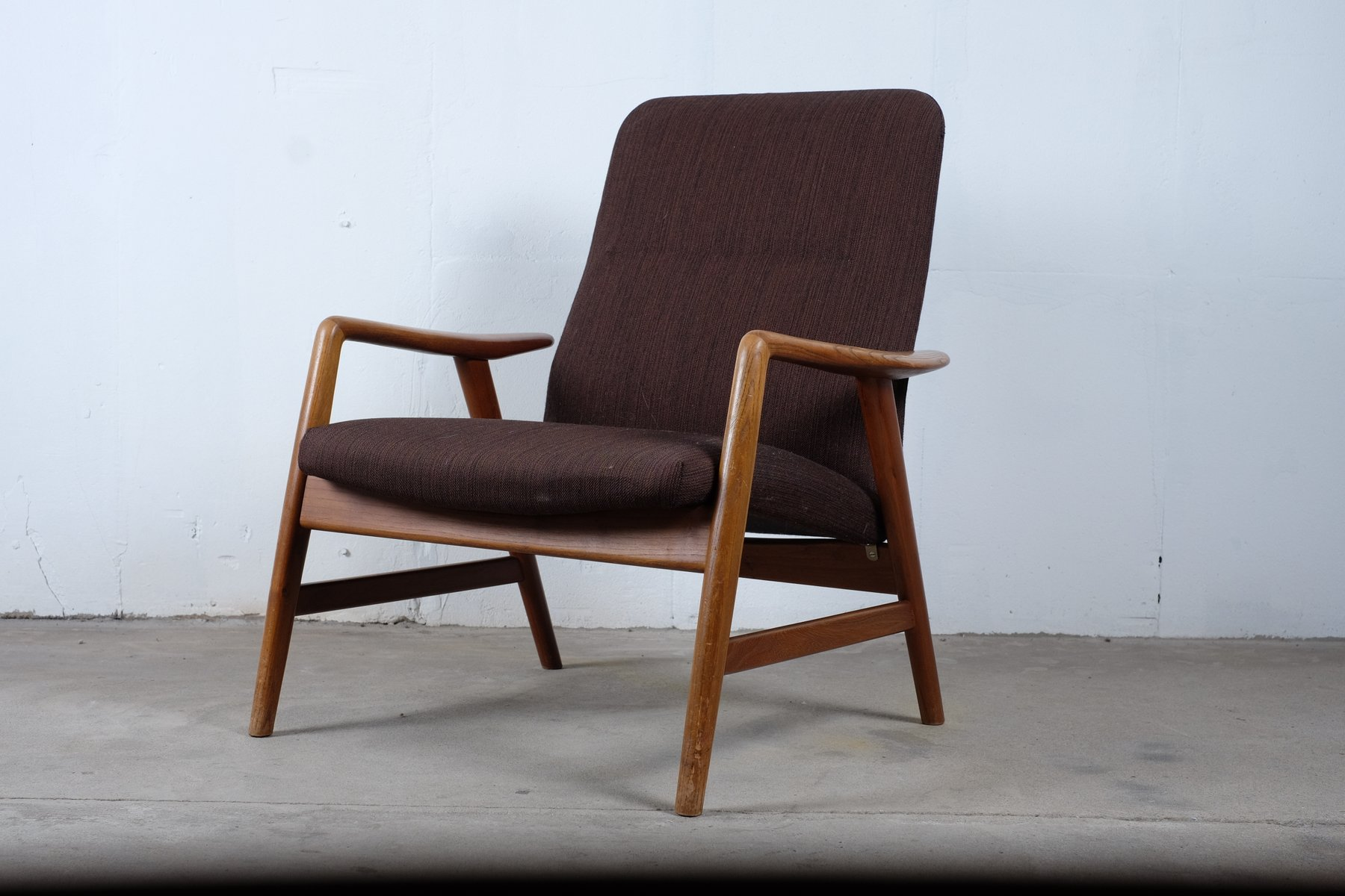 Lowback Lounge Chair by Alf Svensson for Fritz Hansen 1957 for