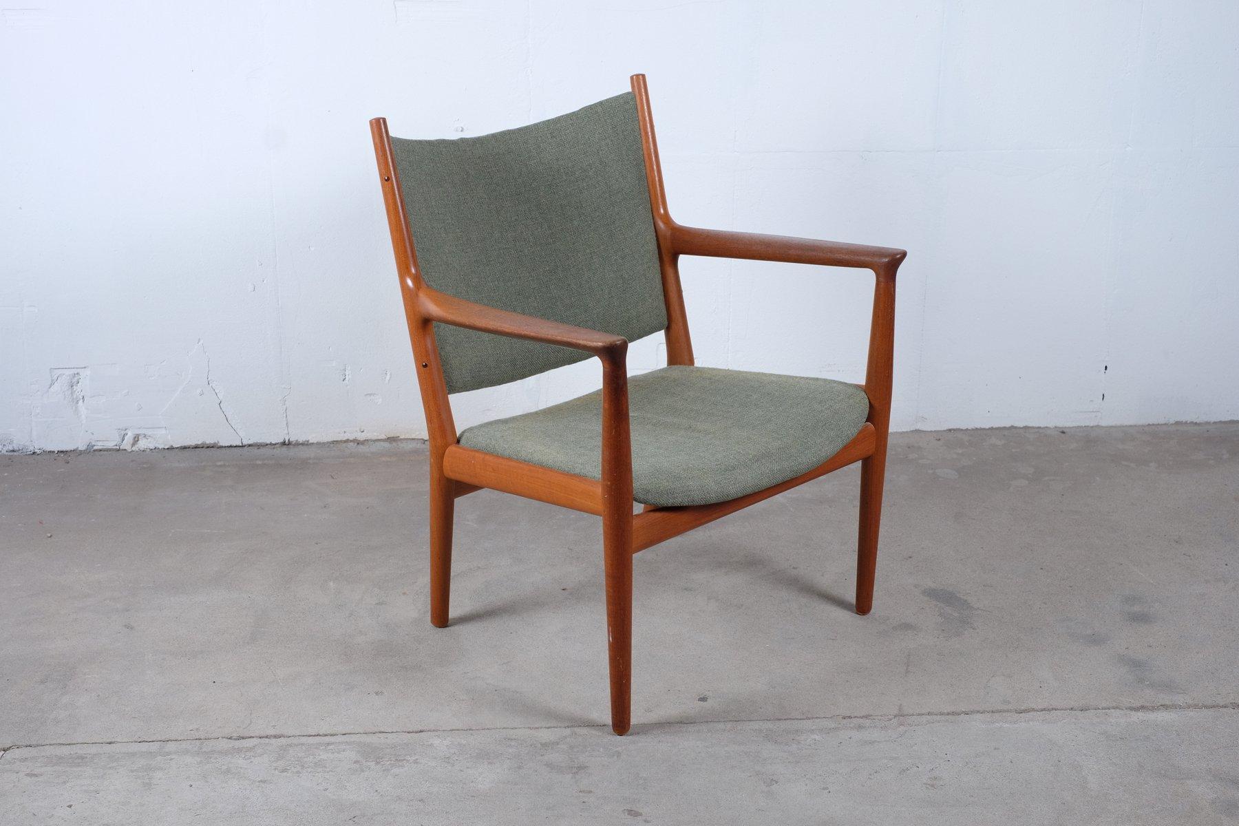 Vintage Model JH 713 Lounge Chair by Hans J Wegner for Johannes