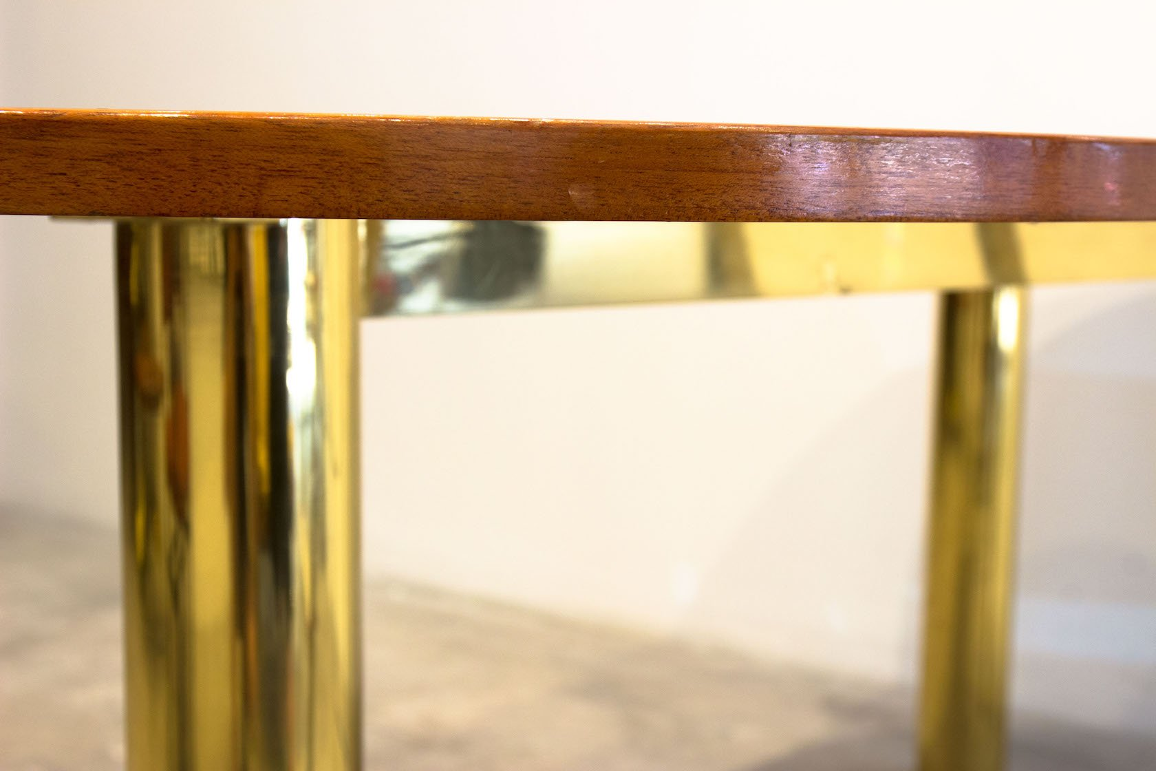 Kidney Bean Shaped Table In Brass S For Sale At Pamono   Kidney Bean Shaped  Desk