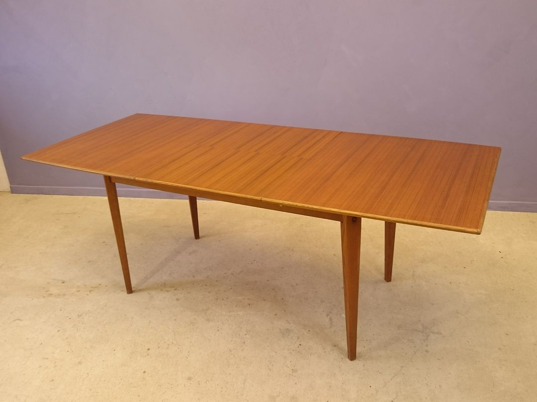 Extendable scandinavian teak dining table 1950s for sale at pamono - Dining table scandinavian ...