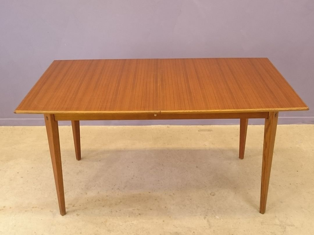 Extendable Scandinavian Teak Dining Table 1950s For Sale At Pamono