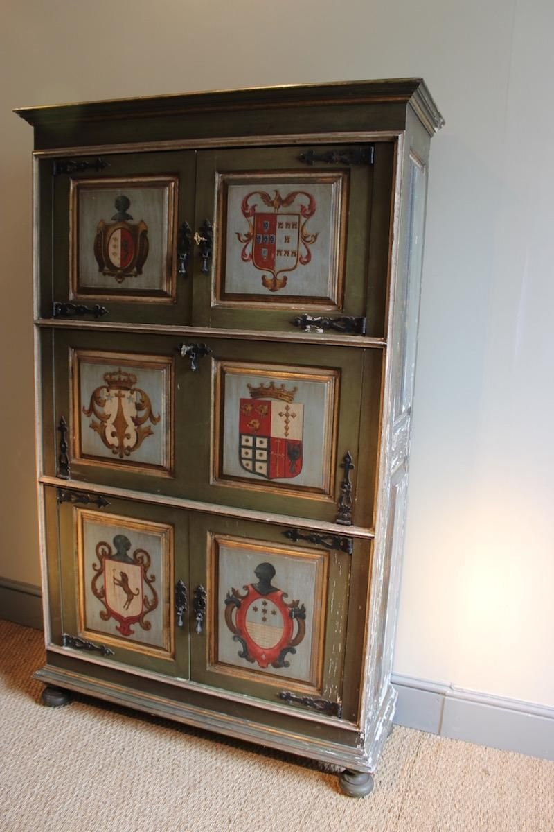 Antique polychrome painted cabinet for sale at pamono for Meuble antique kijiji