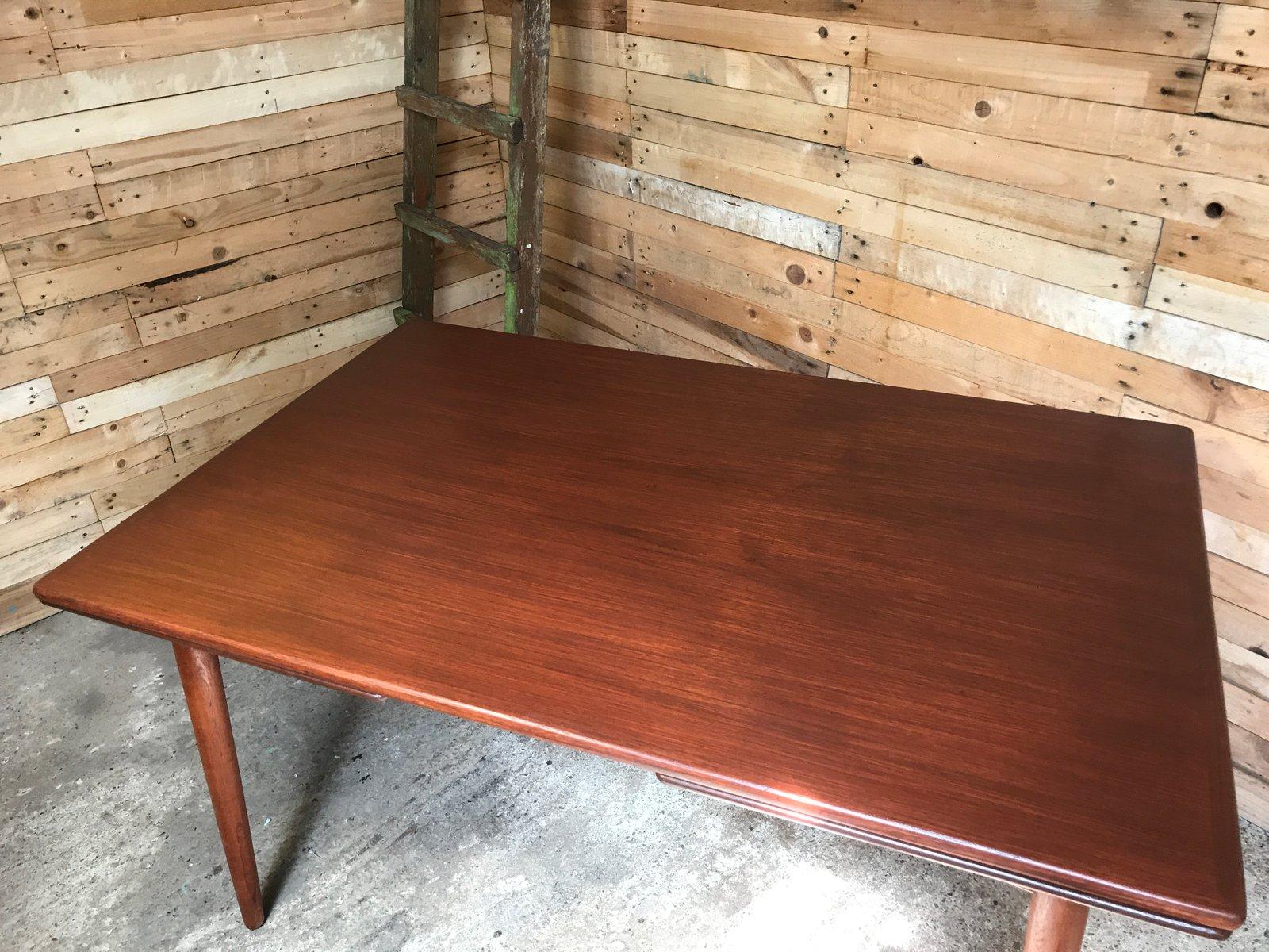 ausziehbarer teak esstisch von omann jun 1950er bei. Black Bedroom Furniture Sets. Home Design Ideas