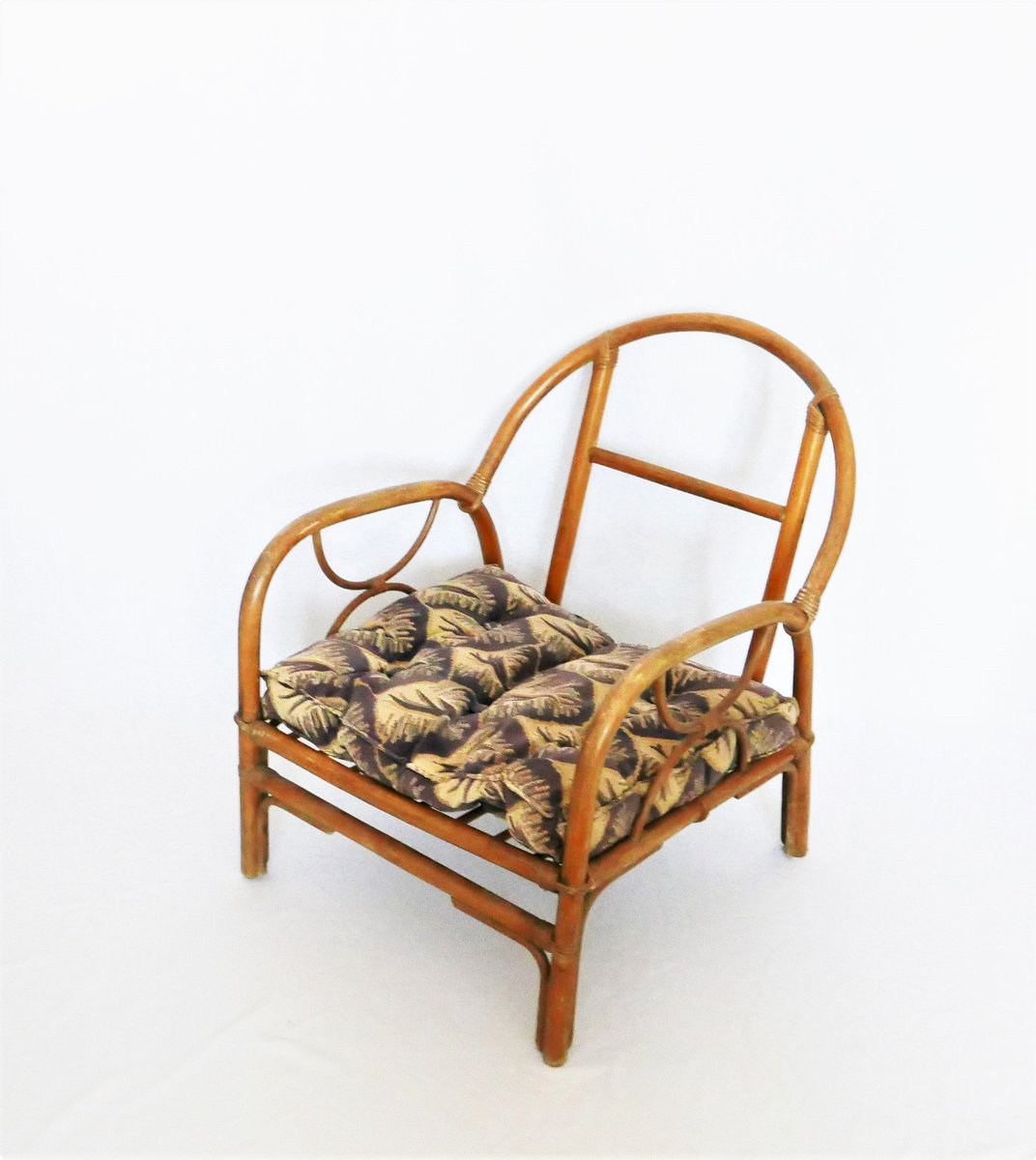 Vintage french bamboo lounge chairs set of 2 for sale at for Vintage parisian lounge