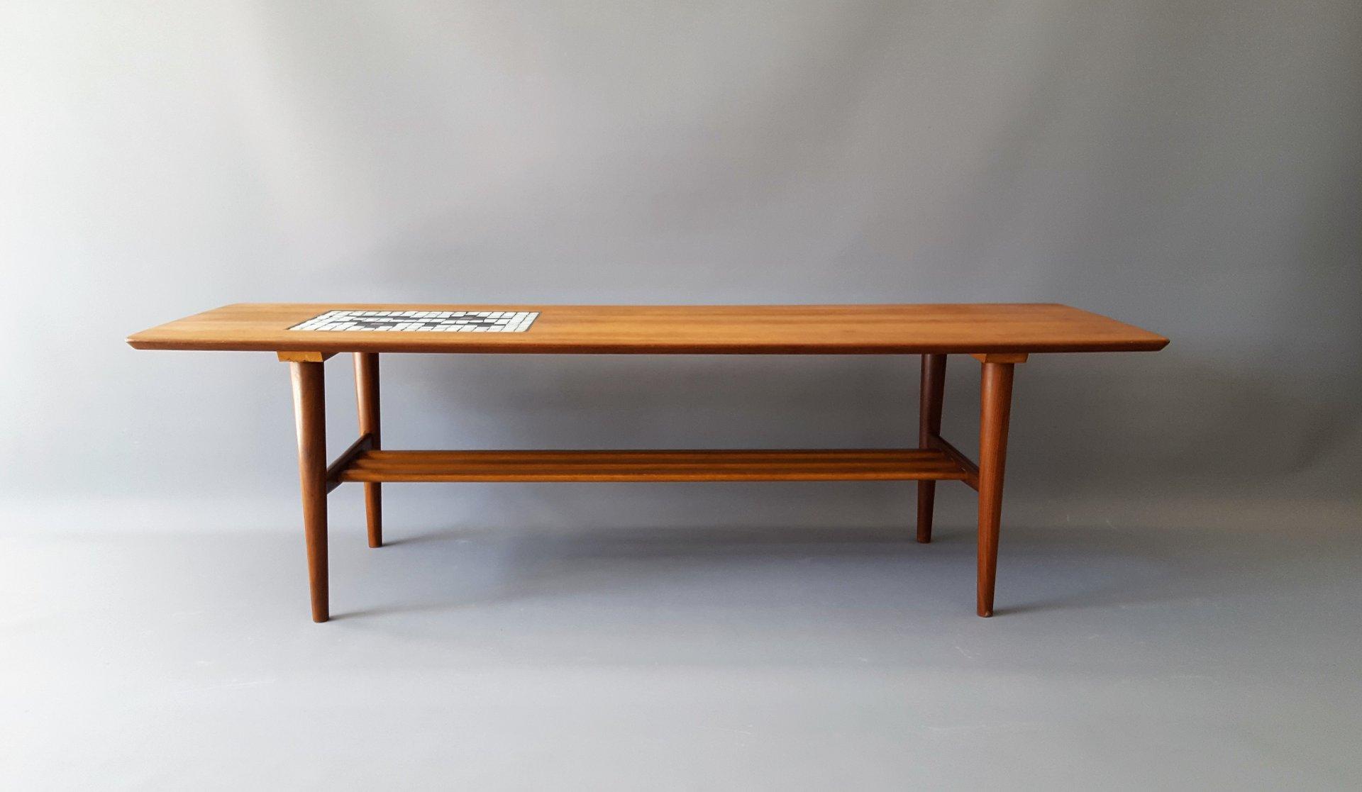 Vintage Tile Coffee Table by Louis van Teeffelen and Jaap Ravelli