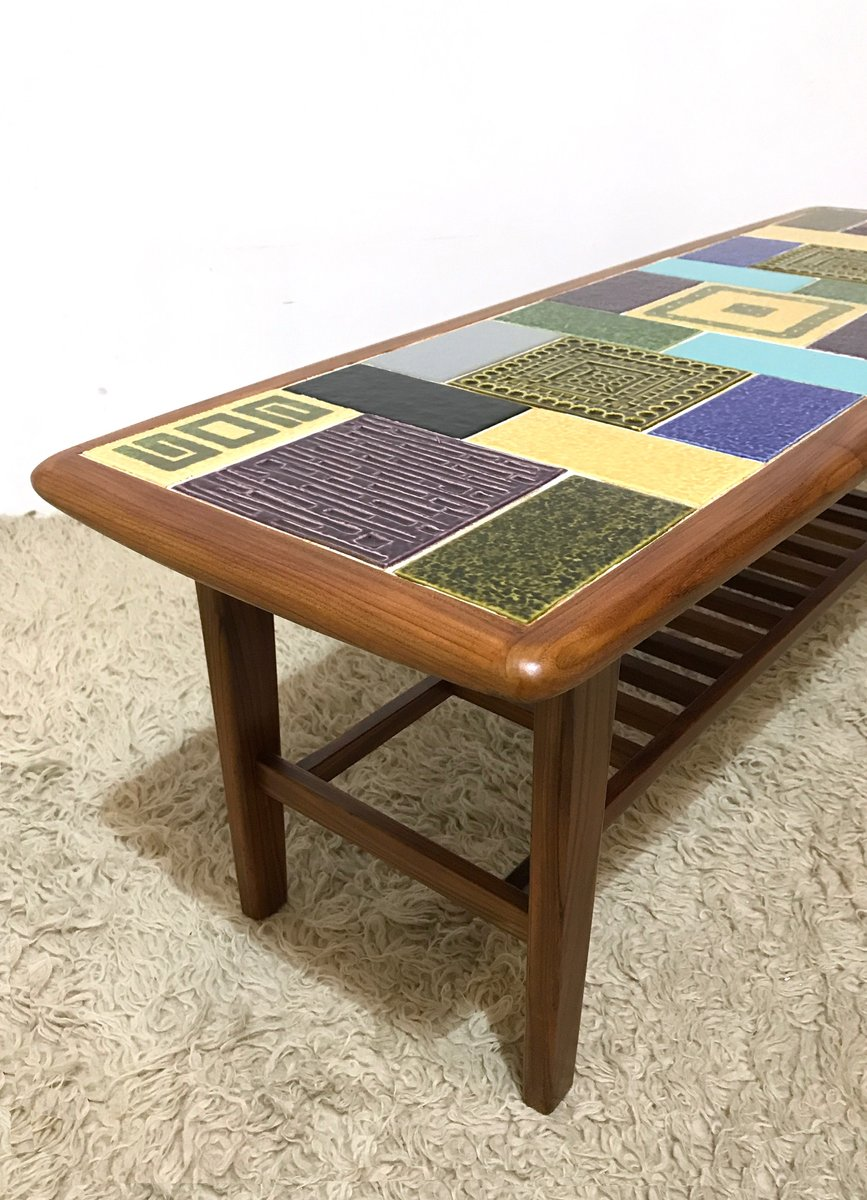 Coffee Table With Ceramic Tiles From Malkin Johnson 1960s For Sale At Pamono