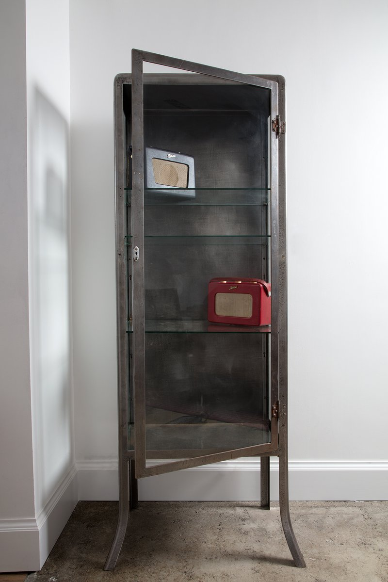 German Medical Cabinet with Glass Doors, 1930s for sale at Pamono