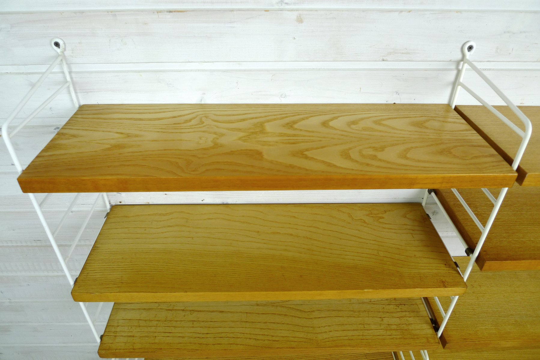 ash wall shelving system by nisse strinning for string design ab 1960s for sale at pamono. Black Bedroom Furniture Sets. Home Design Ideas
