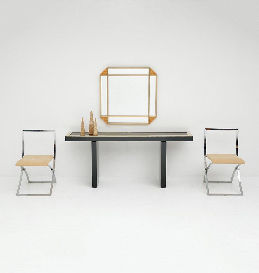 Miroir d coratif en broussin 1970s en vente sur pamono for Miroir decoratif
