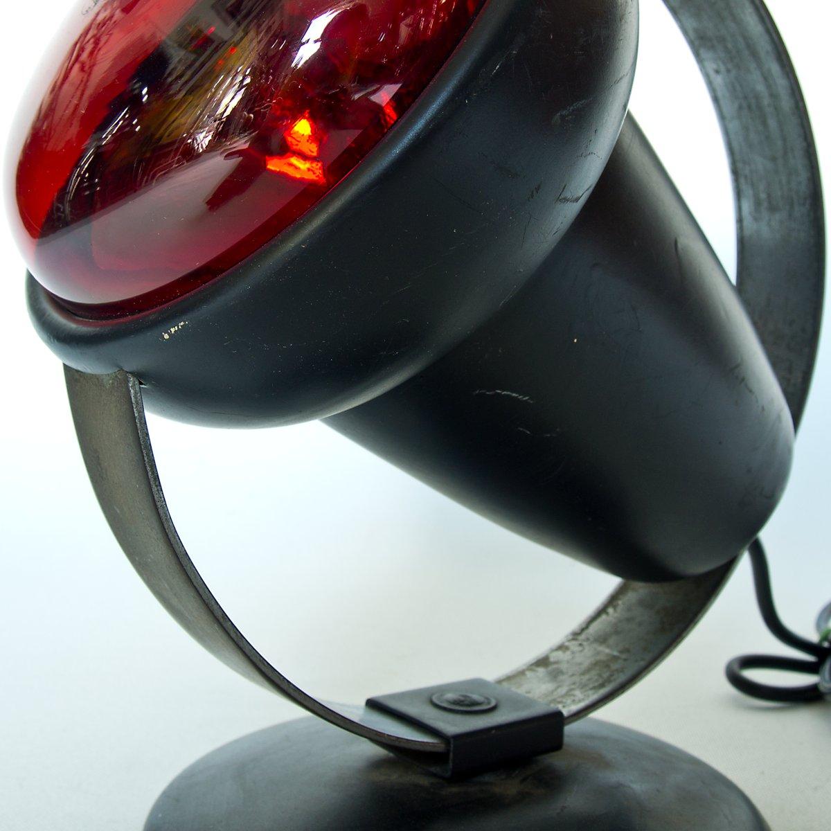 schwarze infrarot lampe von charlotte perriand f r philips. Black Bedroom Furniture Sets. Home Design Ideas