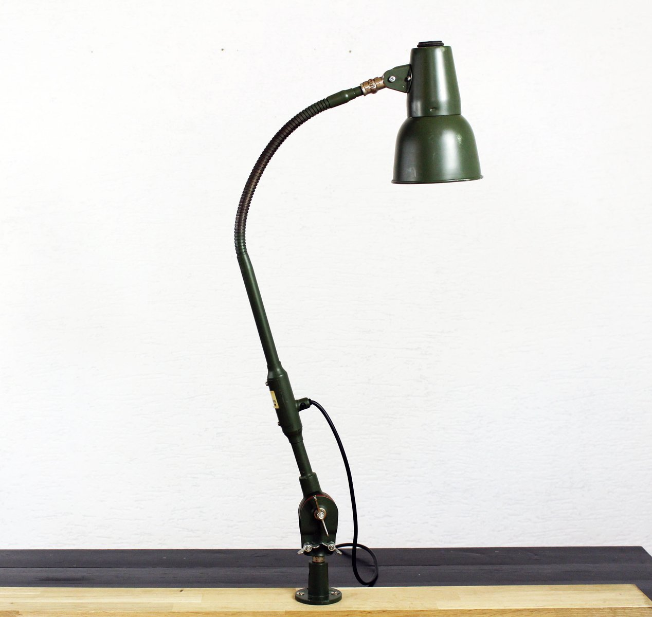 Green Table Lamp - Vintage green table lamp from sis