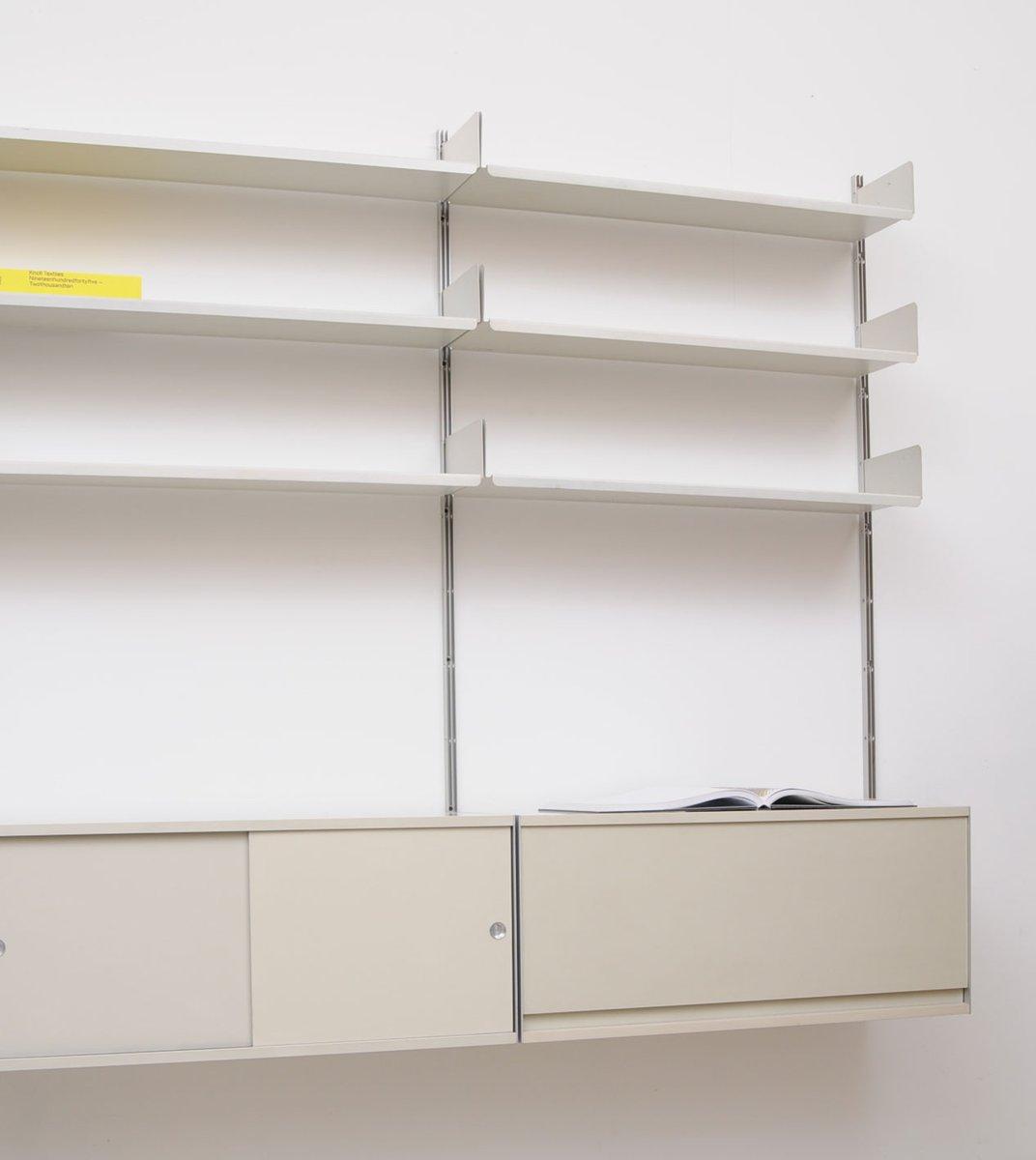 graues vintage 606 regalsystem von dieter rams f r vitsoe. Black Bedroom Furniture Sets. Home Design Ideas