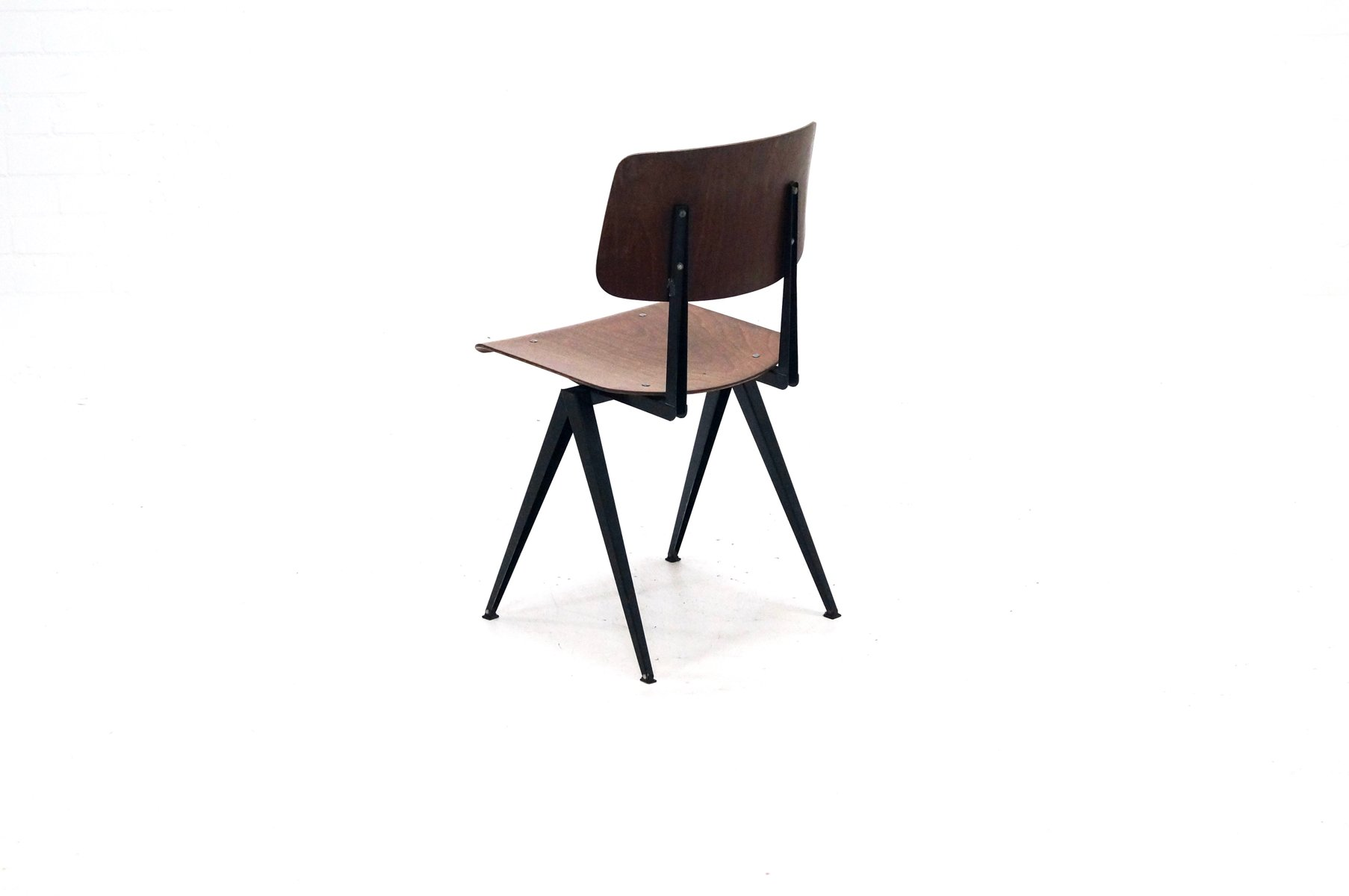 Dutch industrial s16 plywood chair from galvanitas 1960s for Dutch design chair uk
