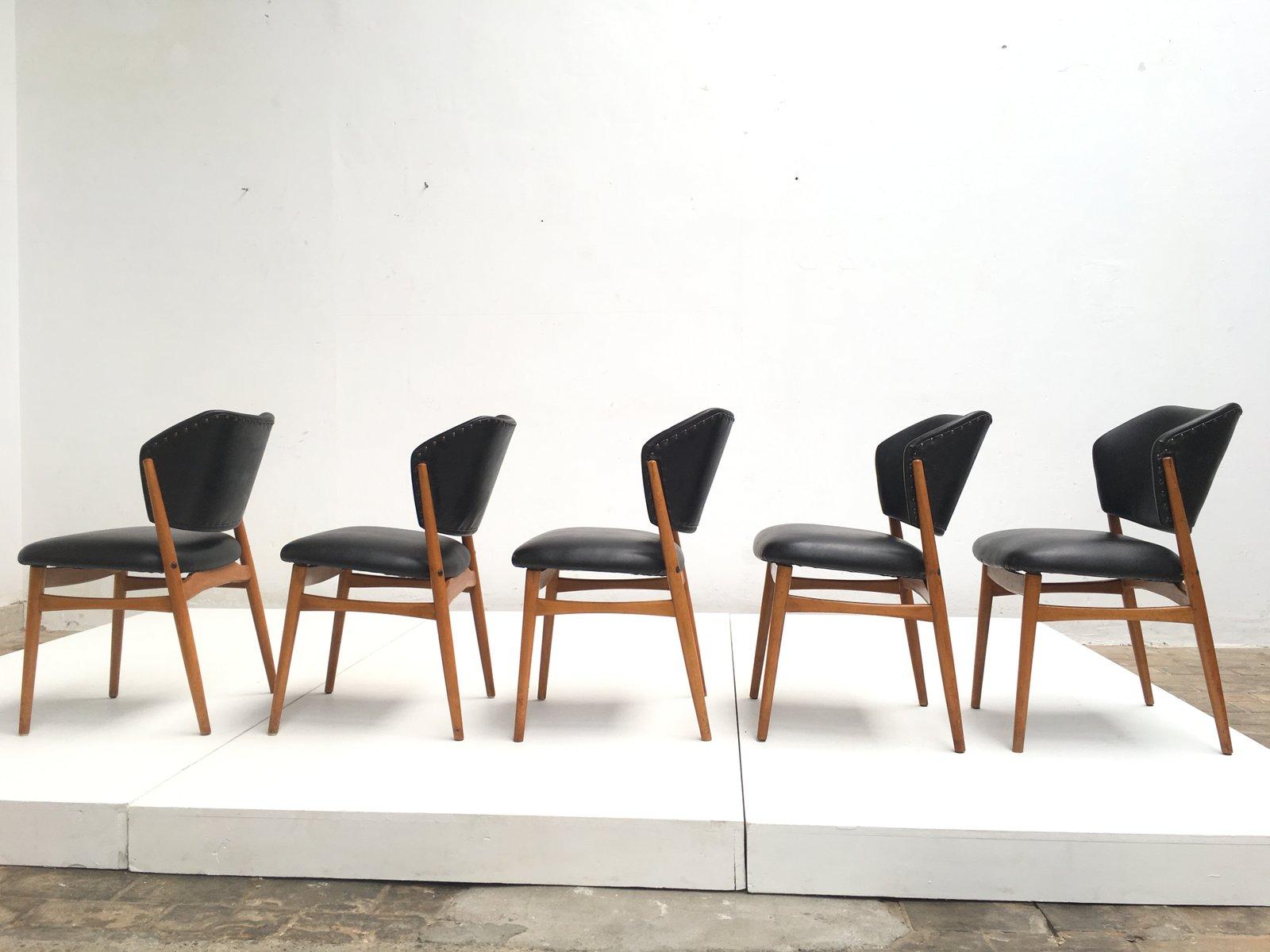 Sedie da pranzo in legno di betulla e similpelle set di 5 for Sedie in similpelle