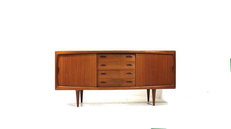 kleines vintage teak sideboard von h p hansen bei pamono. Black Bedroom Furniture Sets. Home Design Ideas