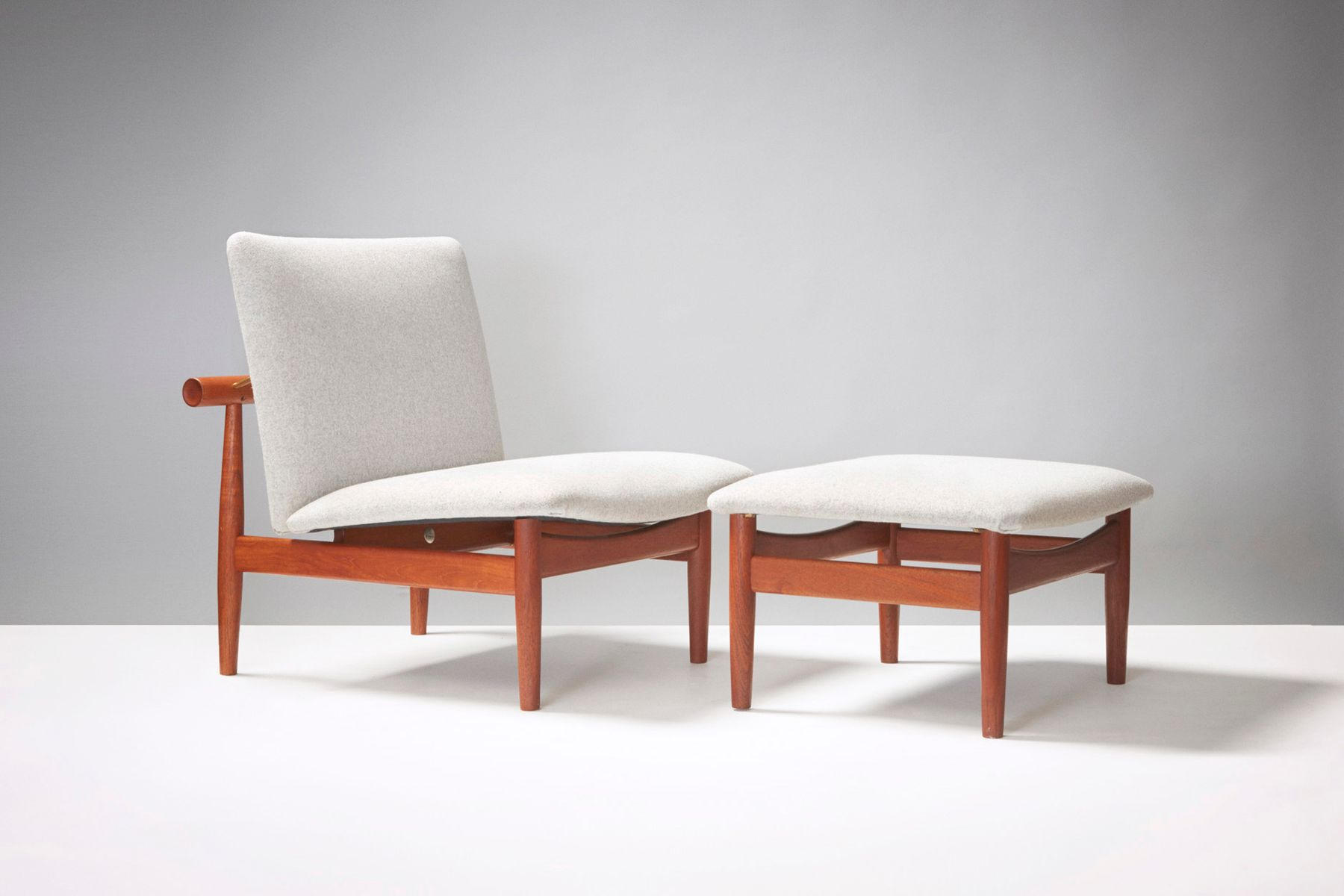137 Japan Chair & Ottoman by Finn Juhl for France & Son 1950s for
