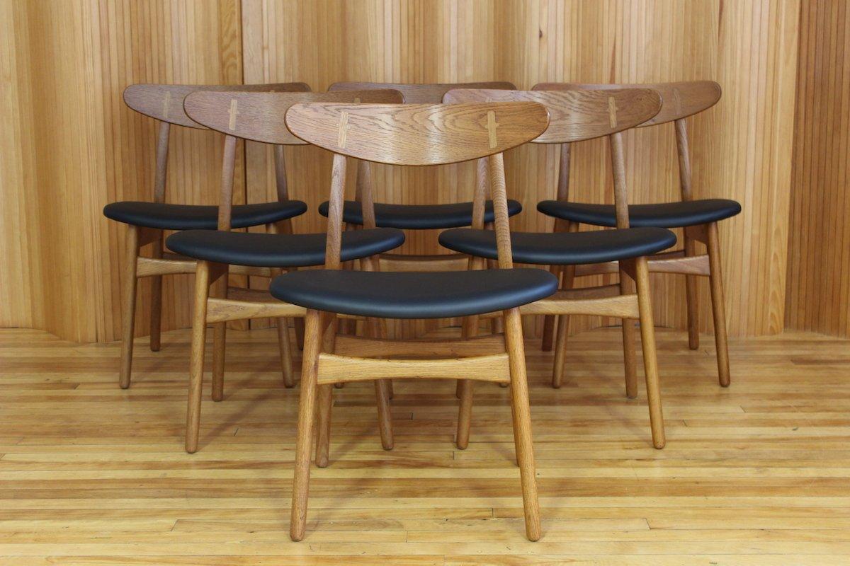 Carl Hansen Chairs danish ch30 oak dining chairshans wegner for carl hansen & son