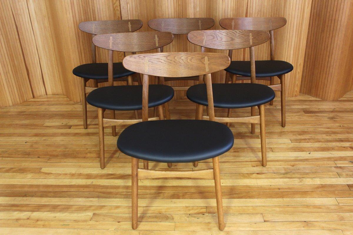 Danish CH30 Oak Dining Chairs by Hans Wegner for Carl Hansen Son