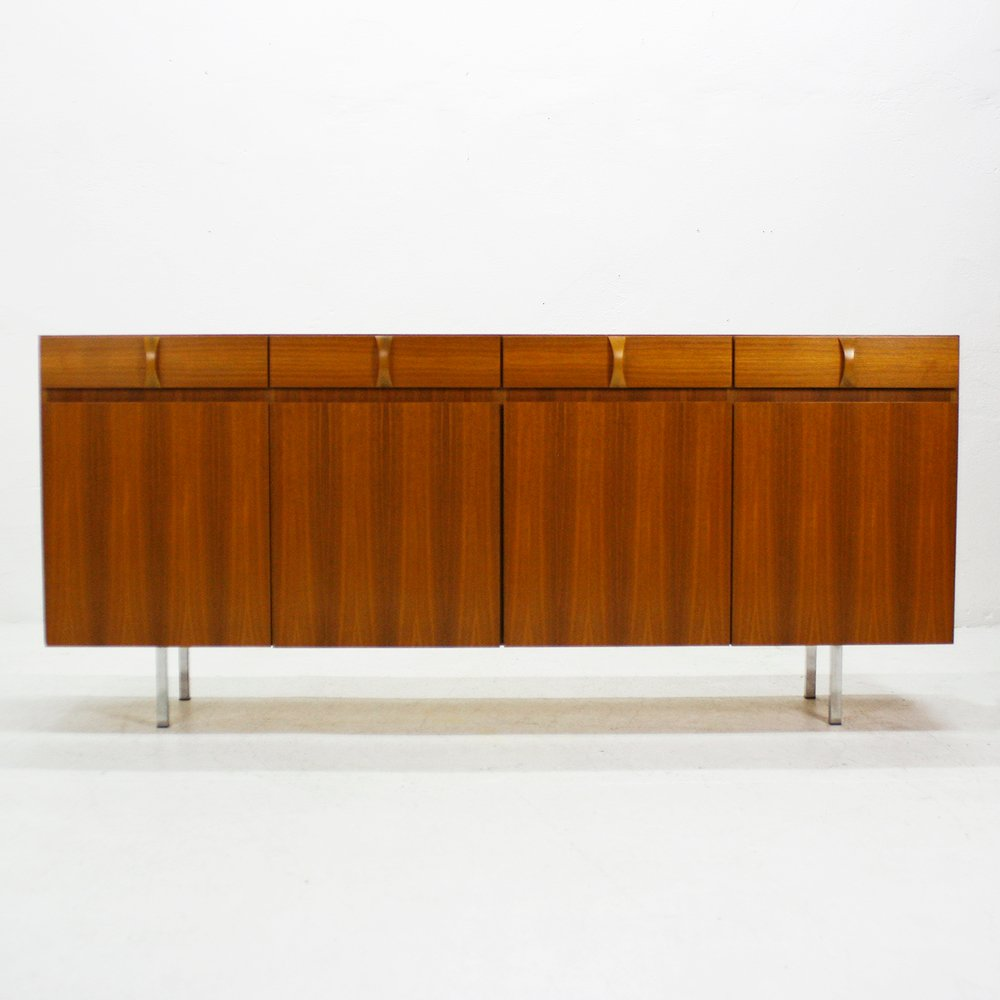walnut sideboard from ga el m bel 1960s for sale at pamono. Black Bedroom Furniture Sets. Home Design Ideas