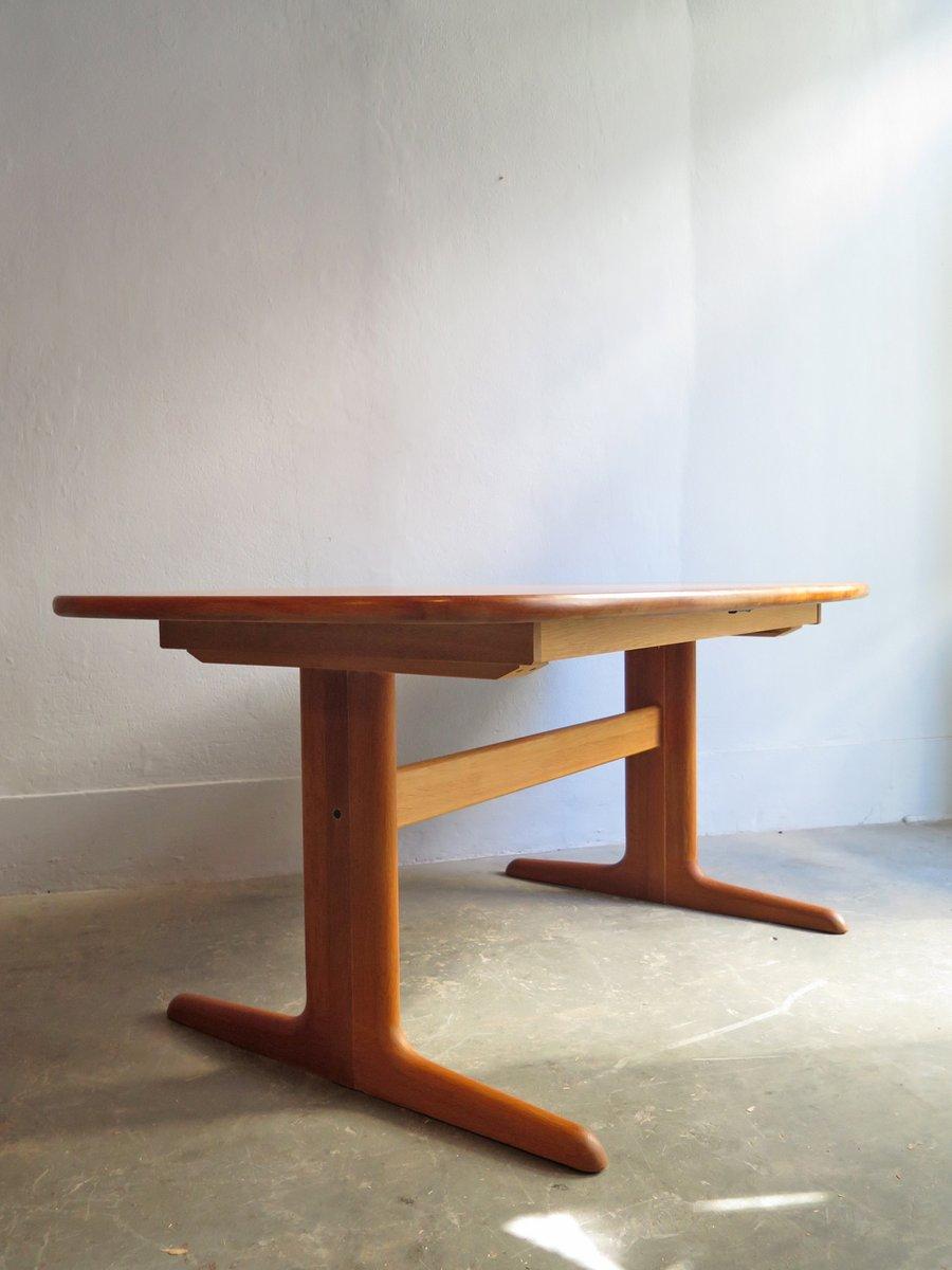 ausziehbarer vintage esstisch aus eiche von skovby bei. Black Bedroom Furniture Sets. Home Design Ideas