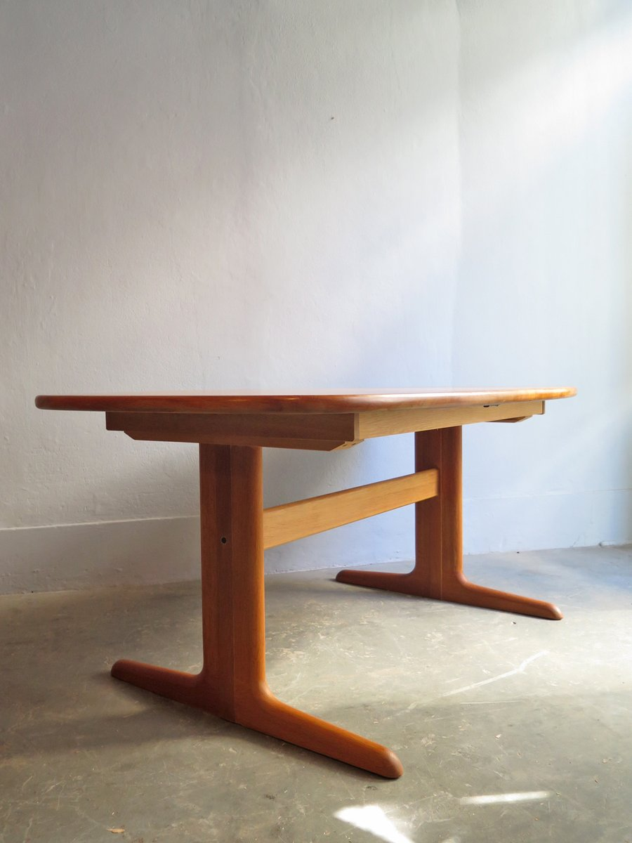 Vintage extendable dining table in oak from skovby for sale at pamono - Oak extendable dining table ...