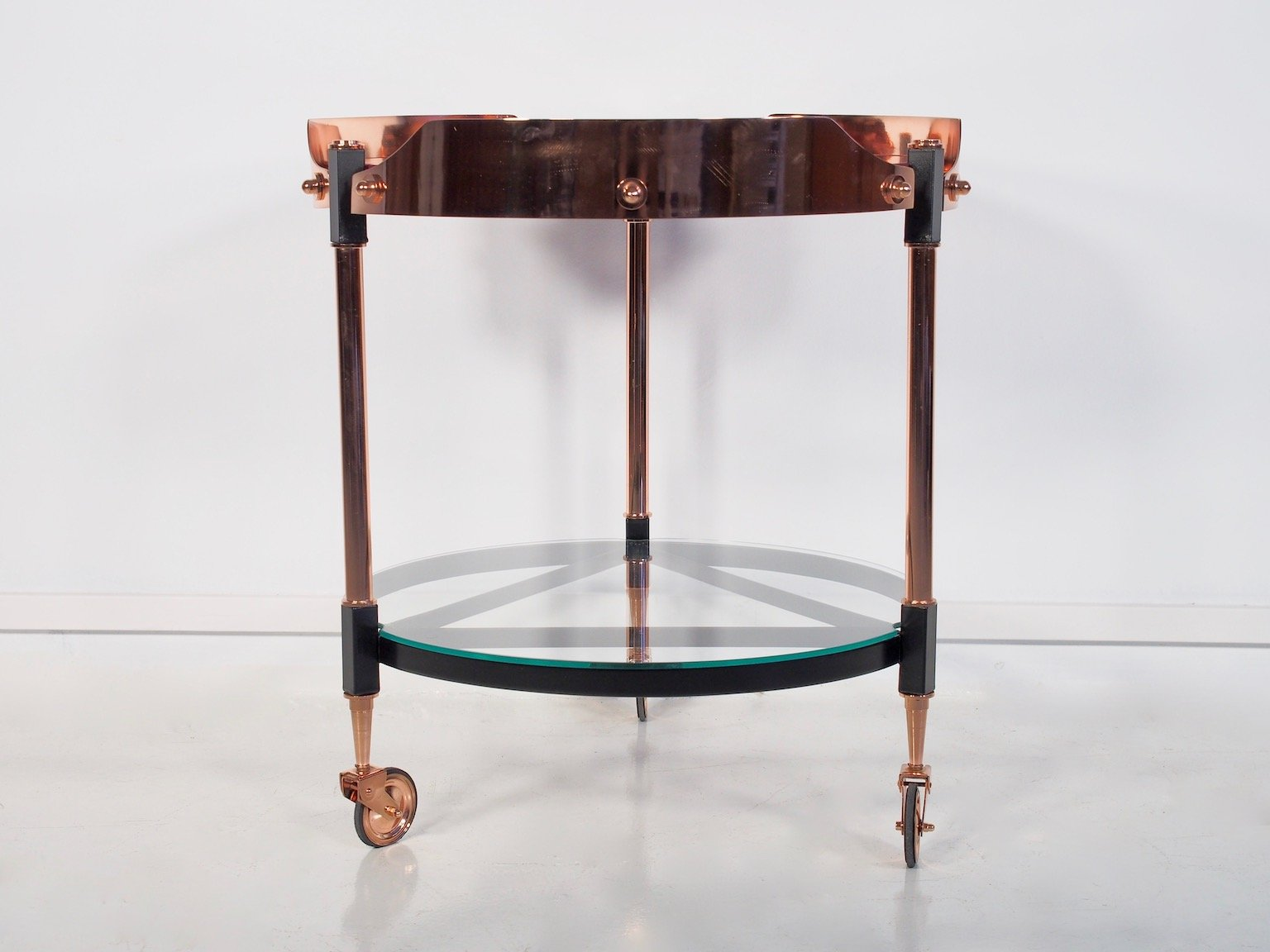Vintage Italian Brass, Metal, And Glass Tray Table