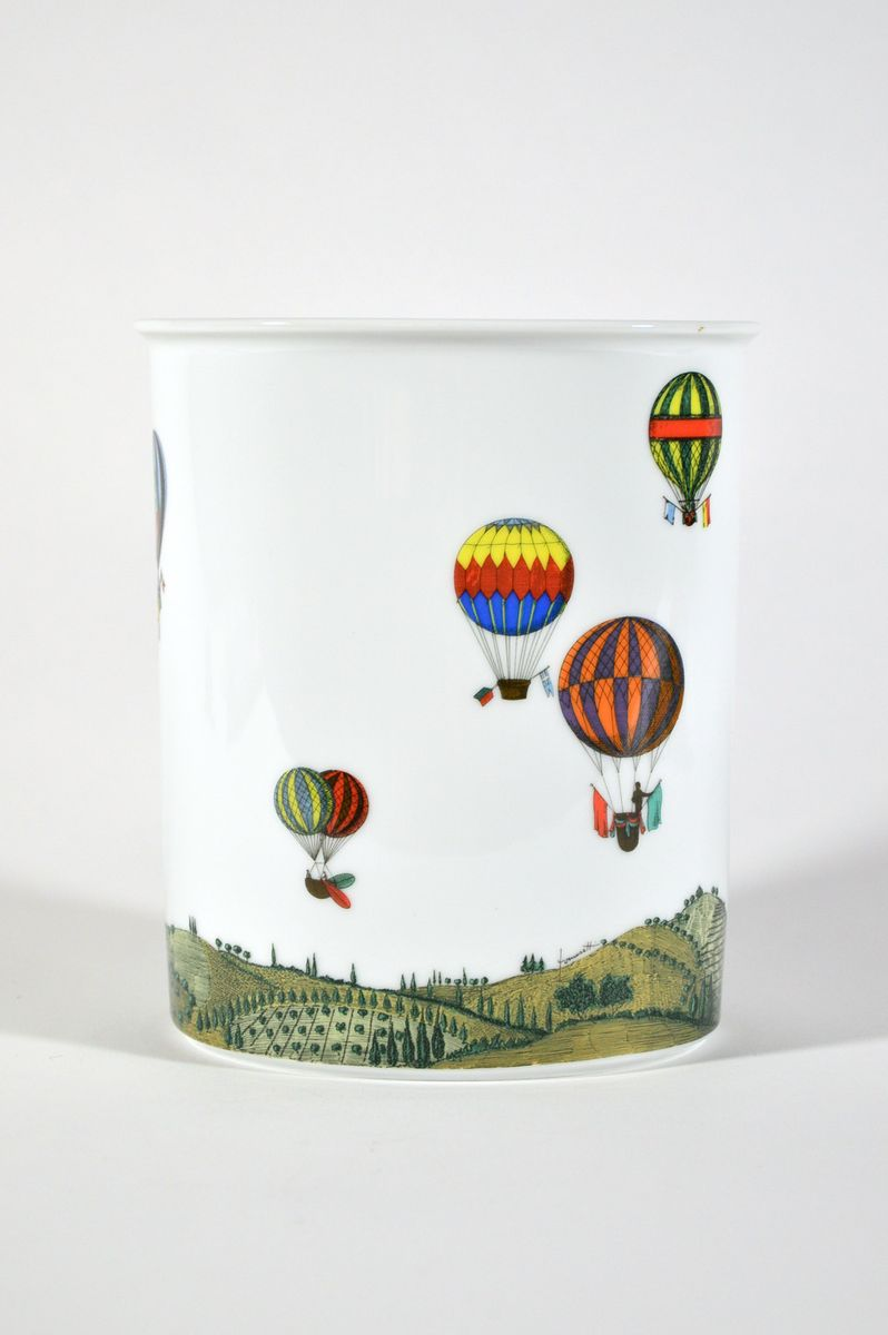vintage vase mit hei luftballon deko von piero fornasetti f r rosenthal bei pamono kaufen. Black Bedroom Furniture Sets. Home Design Ideas