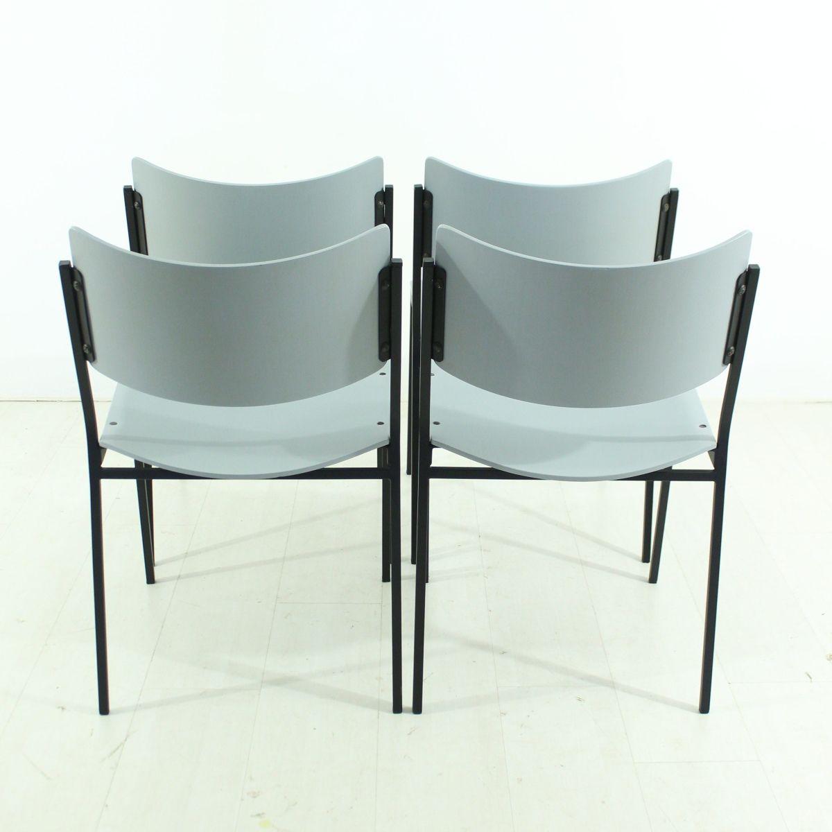 graue vintage st hle 4er set bei pamono kaufen. Black Bedroom Furniture Sets. Home Design Ideas