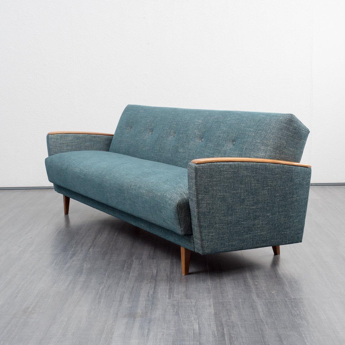 Petrol colored sofa bed 1960s for sale at pamono - Divano anni 30 ...