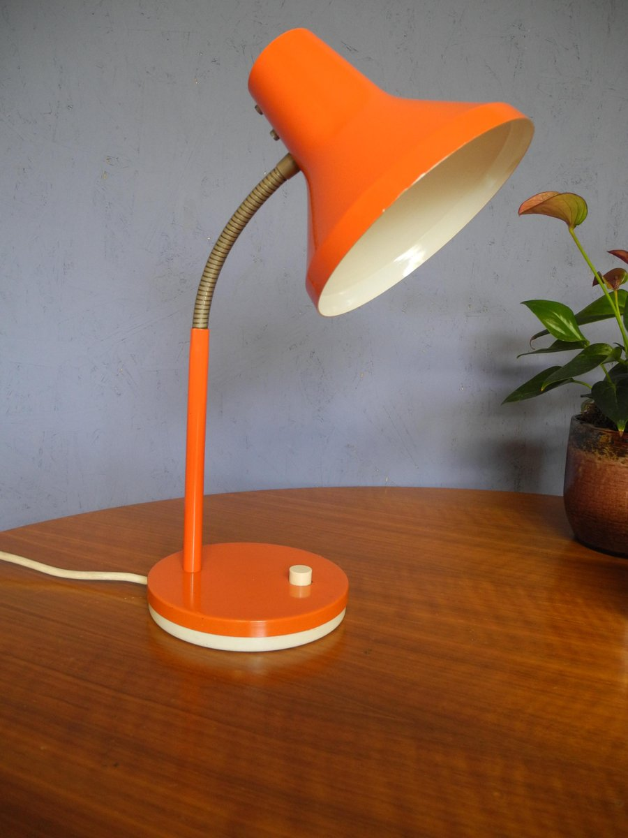 Orange Table Lamp from Pfäffle Leuchten, 1970s for sale at Pamono