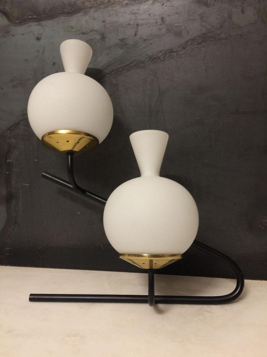 Lampade da parete grandi di stilnovo anni 39 50 set di 2 - Lampade da tavolo anni 50 ...