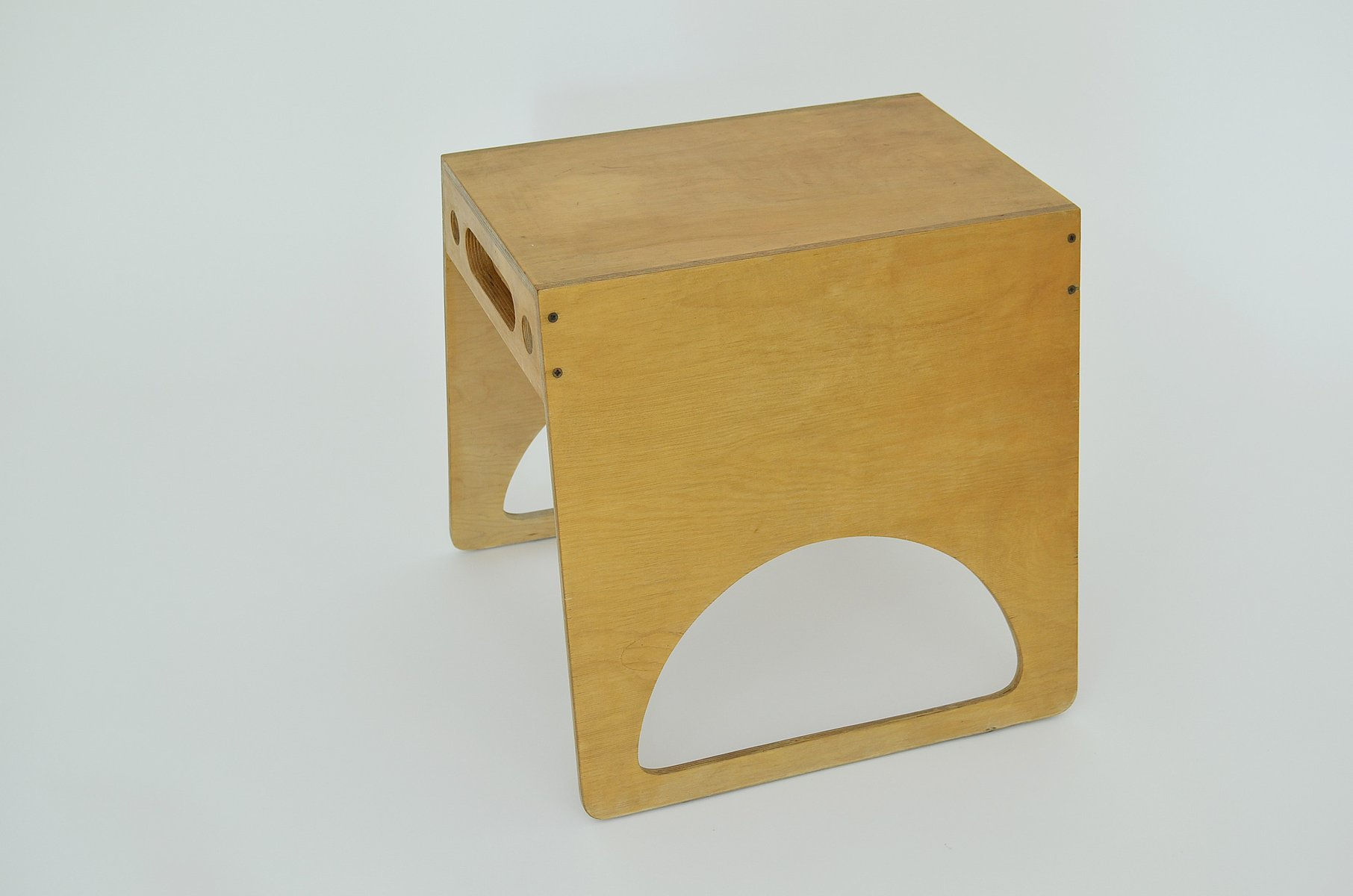 vintage stackable stools in plywood by alberto paoli set of  for  - price per set
