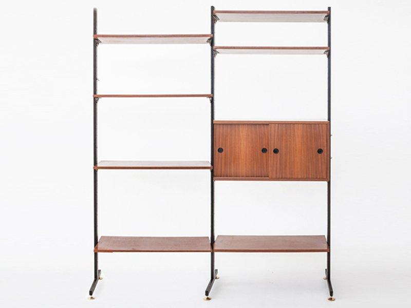 Bücherregal Metall Holz : b cherregal aus holz metall messing 1956 bei pamono kaufen ~ Sanjose-hotels-ca.com Haus und Dekorationen