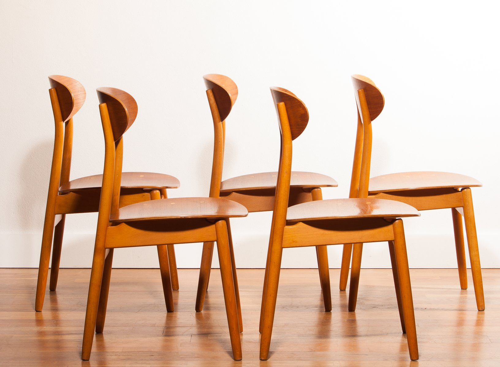 Dining Chairs by Alf Svensson for Hogafors 1950s Set of 5 for