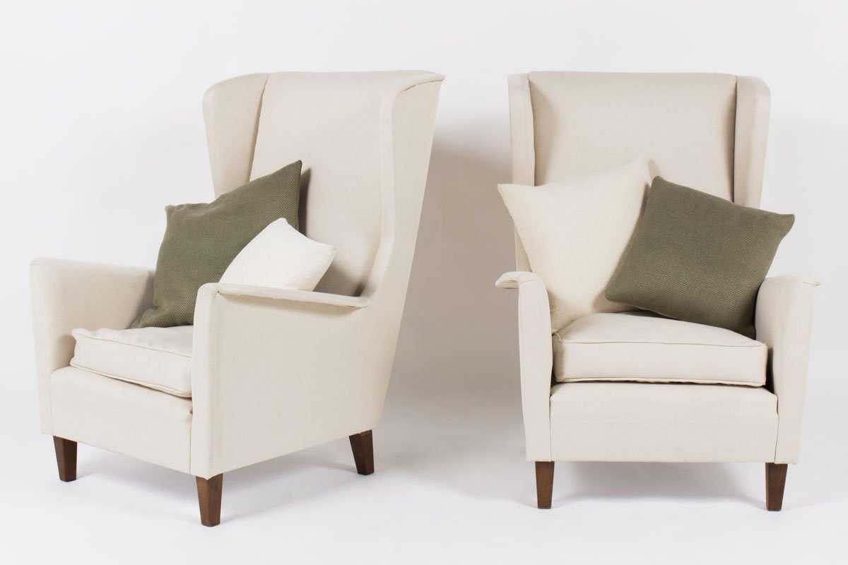 Beige italian armchairs 1950 set of 2 for sale at pamono for 2 armchairs for sale