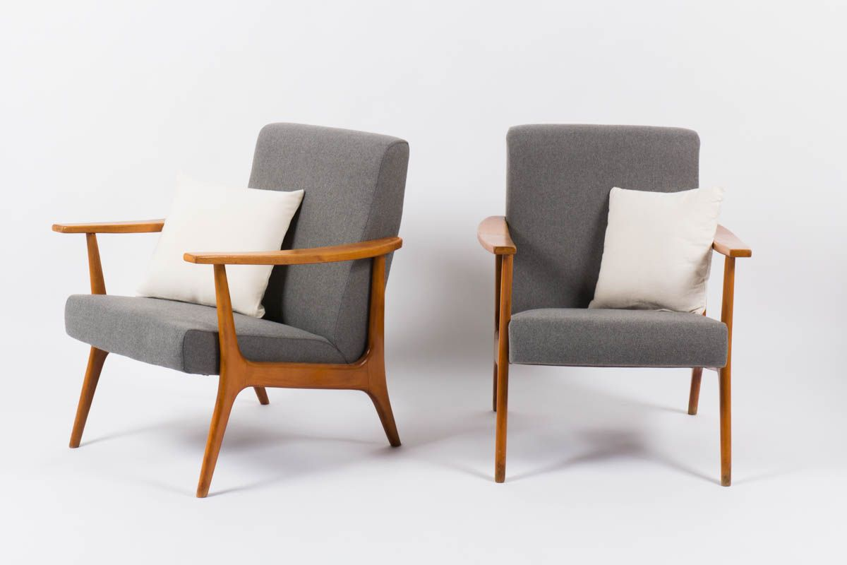 Armchairs from stella 1950 set of 2 for sale at pamono for 2 armchairs for sale