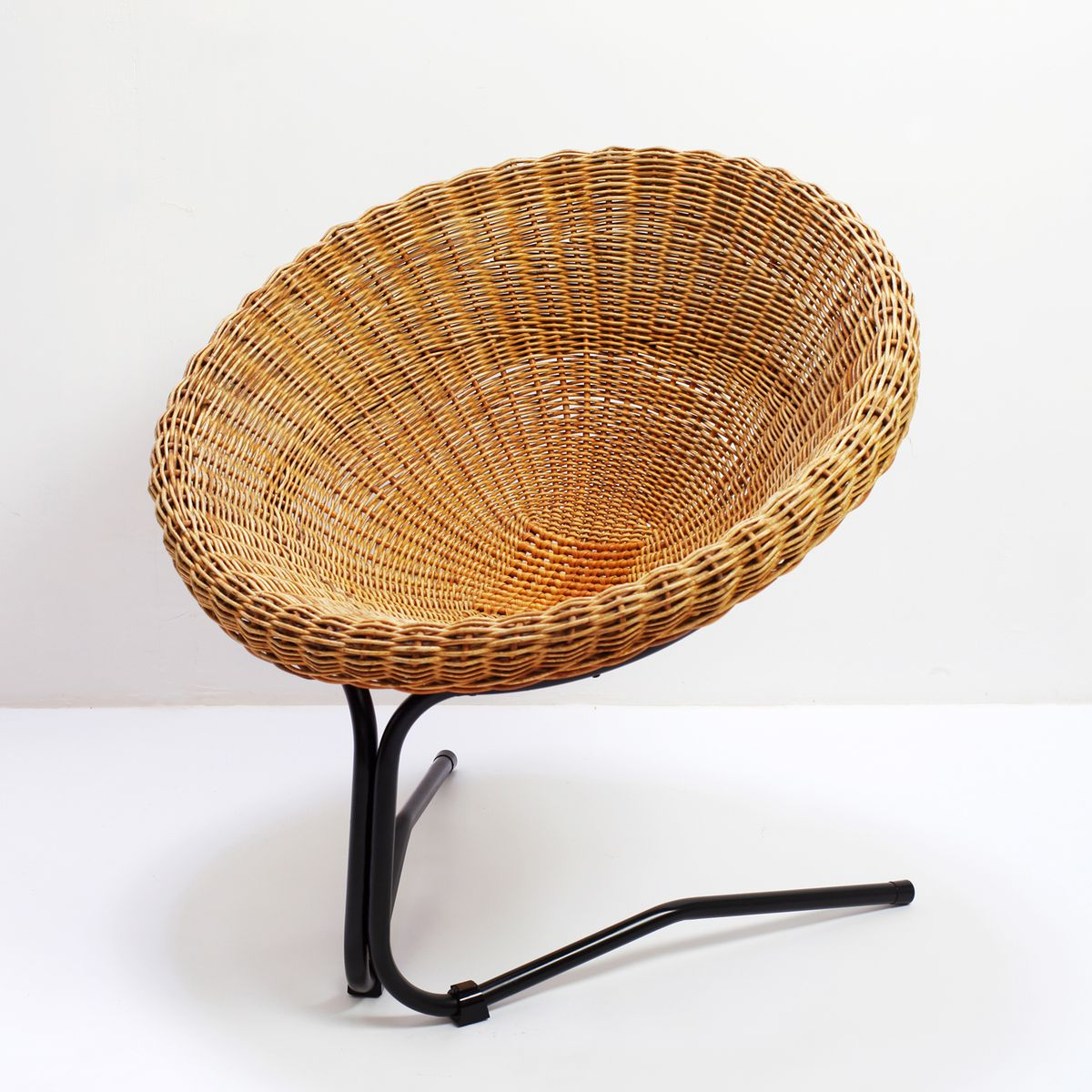rattan lounge chair by arnold bueno de mesquita for roh noordwolde 1950s for sale at pamono. Black Bedroom Furniture Sets. Home Design Ideas