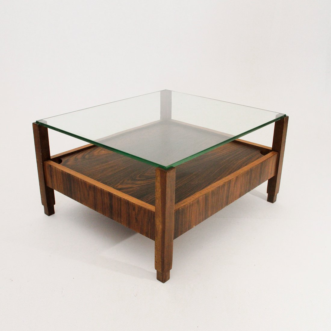 Italian Coffee Table With Glass Top 1960s For Sale At Pamono