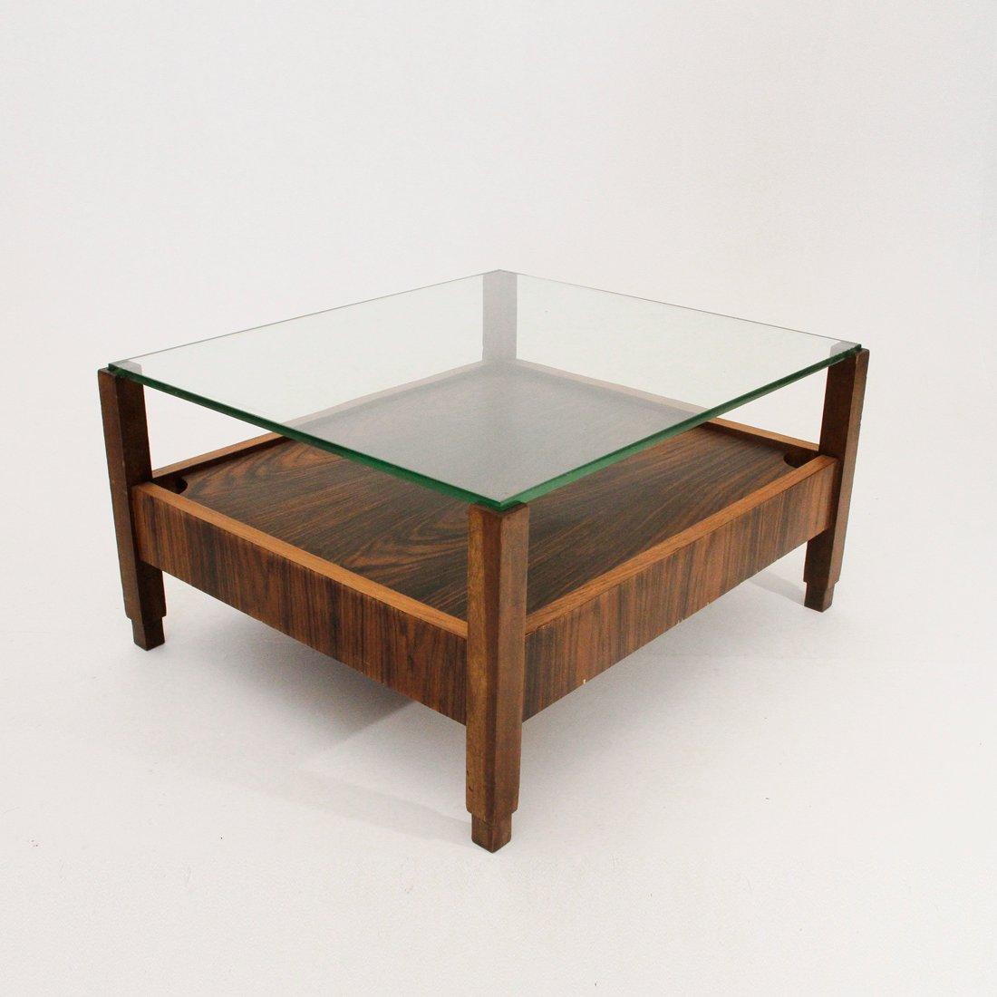 italienischer couchtisch mit glasplatte 1960er bei pamono kaufen. Black Bedroom Furniture Sets. Home Design Ideas