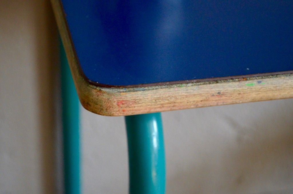 Blue School Chair dark blue school desk & chair, 1960s for sale at pamono