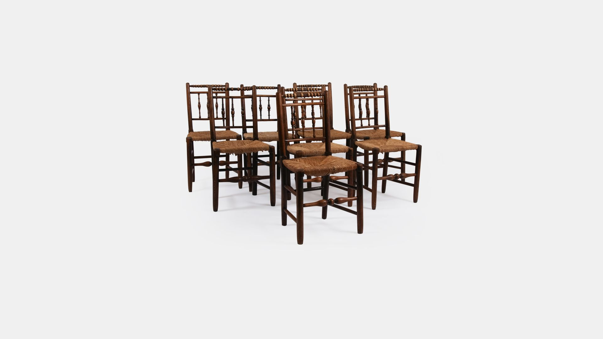 19th Century Dining Chairs Set of 8