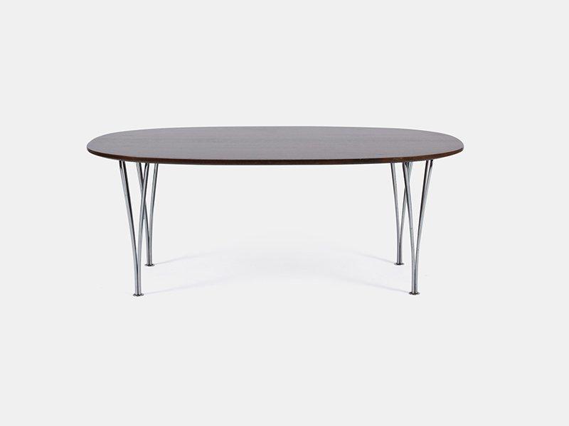 Vintage Super Elliptical Table By Hein, Jacobsen, U0026 Mathsson For Fritz  Hansen