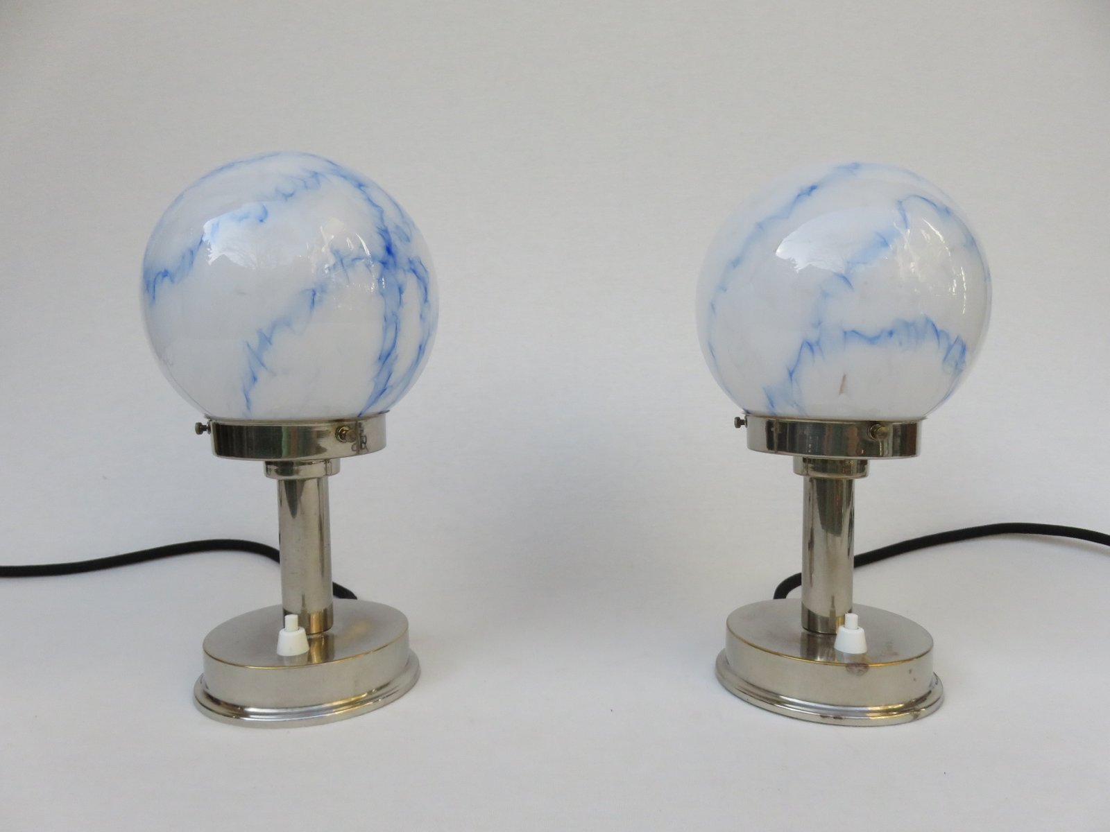 Vintage small art deco table lamps from fm set of 2 for sale at vintage small art deco table lamps from fm set of 2 geotapseo Images