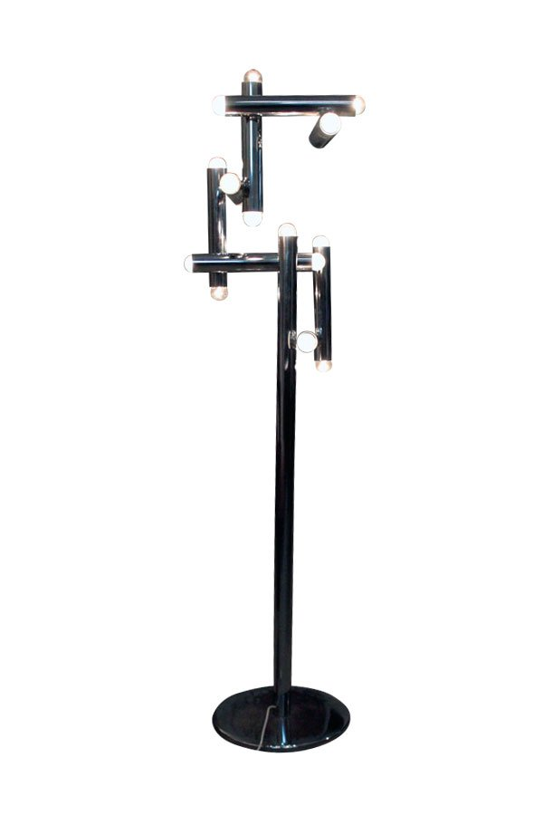 Floor lamp from stilux milano 1970s for sale at pamono for Milano chrome floor lamp