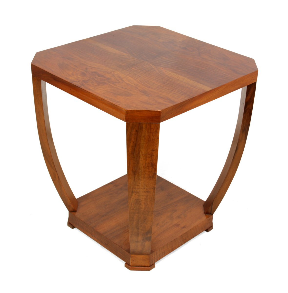 art deco walnut side table 1930s for sale at pamono. Black Bedroom Furniture Sets. Home Design Ideas