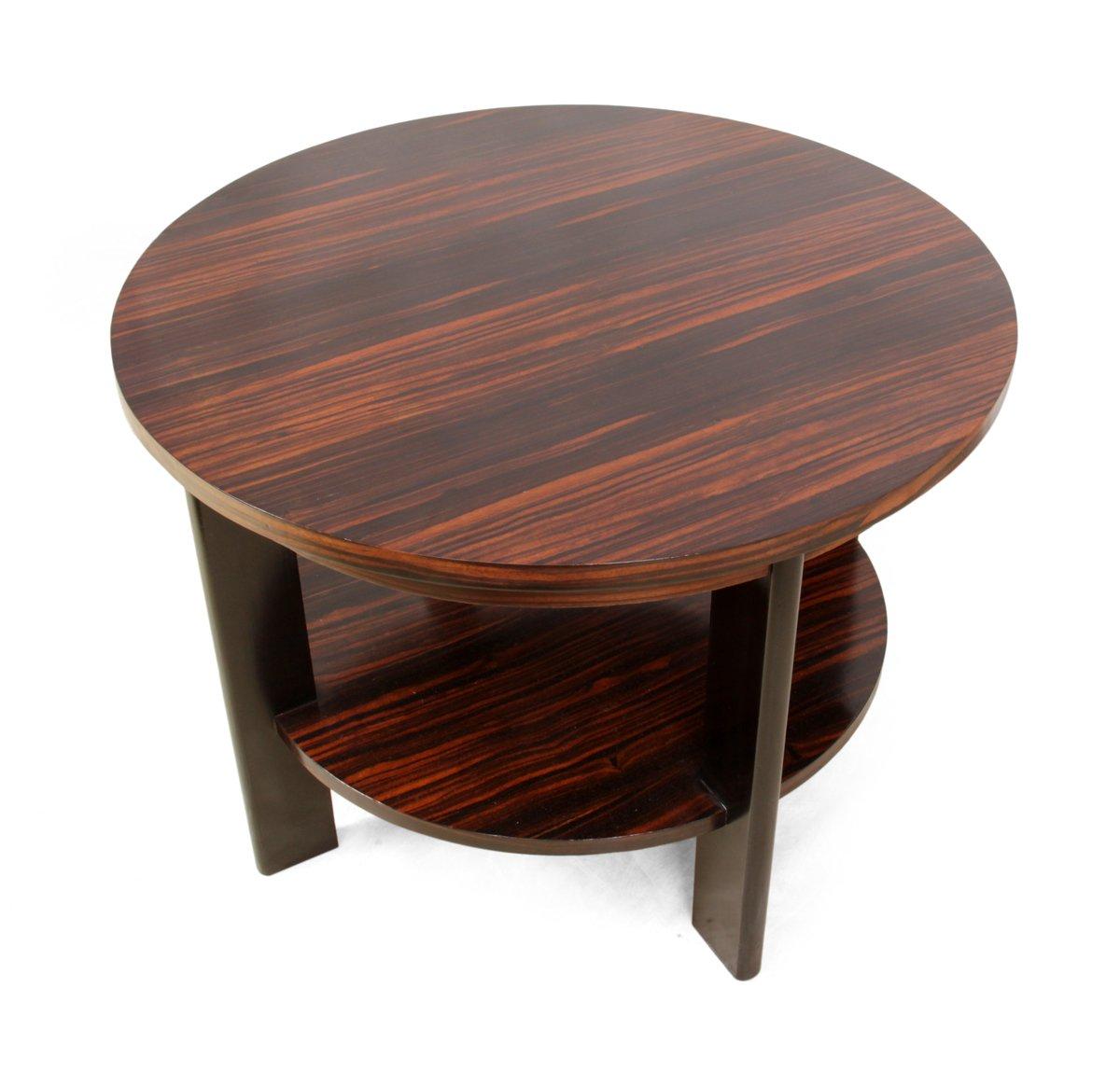 Art deco macassar ebony coffee table 1930s for sale at pamono for Art deco coffee table