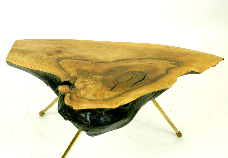 austrian tree trunk table by carl aubck 1950s