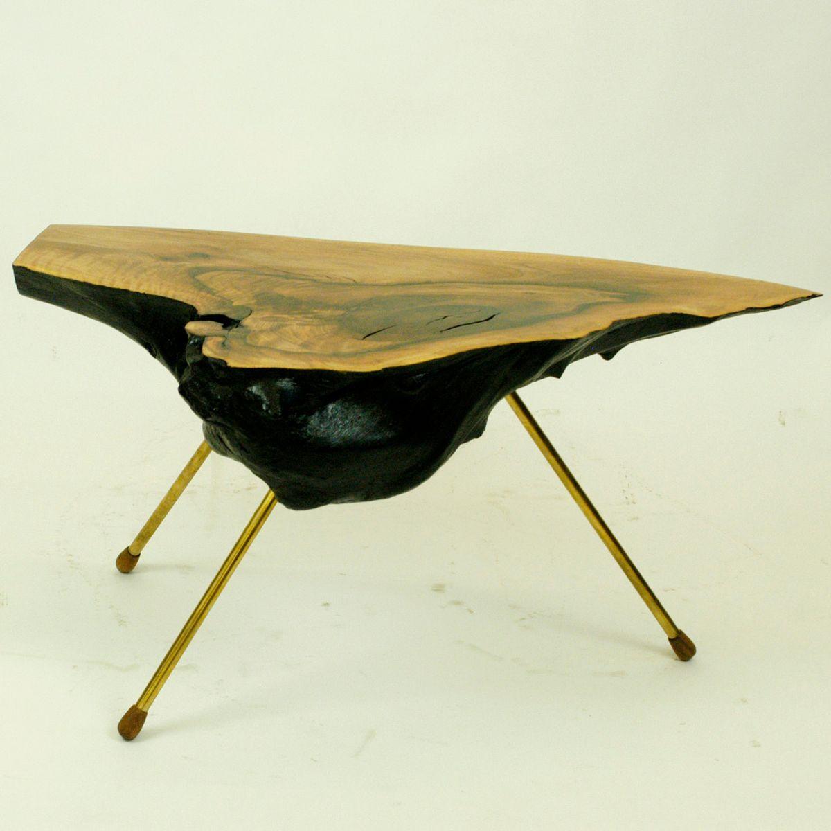 sterreichischer baumstamm tisch von carl aub ck 1950er bei pamono kaufen. Black Bedroom Furniture Sets. Home Design Ideas