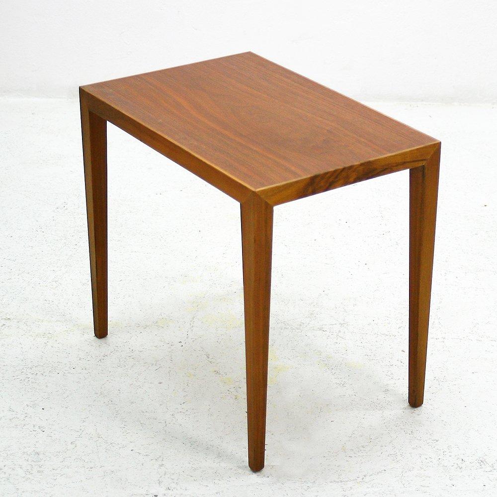 table d appoint en noyer 1960s en vente sur pamono. Black Bedroom Furniture Sets. Home Design Ideas
